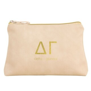 Delta Gamma Vegan Leather Cosmetic Bags