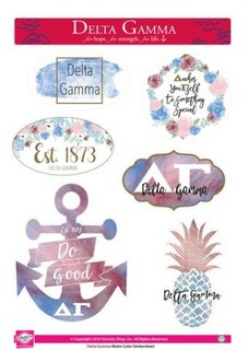 Delta Gamma Water Color Stickers