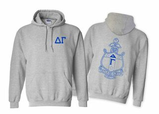 Delta Gamma World Famous Crest - Shield Hooded Sweatshirt- $35!