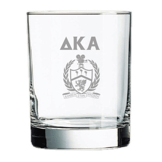 Delta Kappa Alpha Rocks Glass