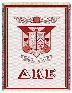 Delta Kappa Epsilon Afghan Blanket Throw