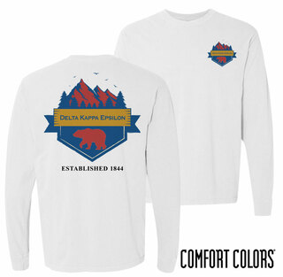 Delta Kappa Epsilon Big Bear Long Sleeve T-shirt - Comfort Colors