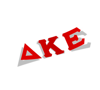 Delta Kappa Epsilon Big Greek Letter Window Sticker Decal