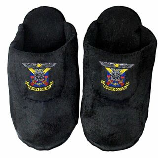 DISCOUNT-Delta Kappa Epsilon Black Solid Slipper
