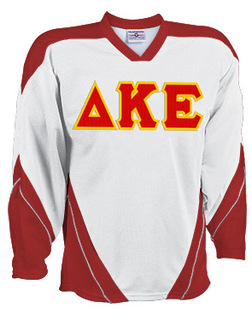 DISCOUNT-Delta Kappa Epsilon Breakaway Lettered Hockey Jersey
