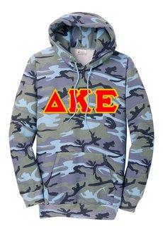 DISCOUNT-Delta Kappa Epsilon Camo Pullover Hooded Sweatshirt