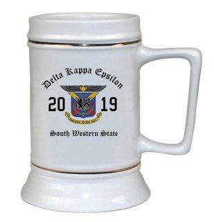 Delta Kappa Epsilon Ceramic Crest & Year Ceramic Stein Tankard - 28 ozs!