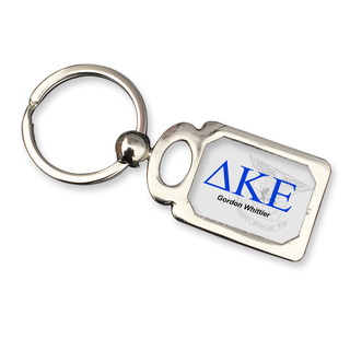 Delta Kappa Epsilon Chrome Crest Key Chain
