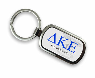 Delta Kappa Epsilon Chrome Crest - Shield Key Chain