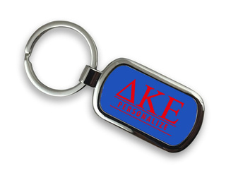 Delta Kappa Epsilon Chrome Custom Keychain