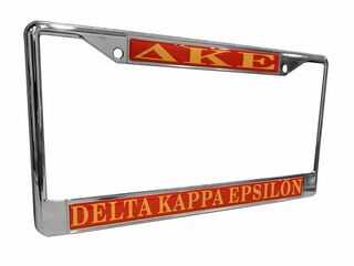 Delta Kappa Epsilon Chrome License Plate Frames