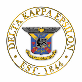 Delta Kappa Epsilon Circle Crest - Shield Decal