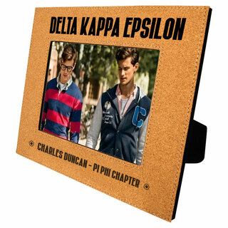 Delta Kappa Epsilon Cork Photo Frame