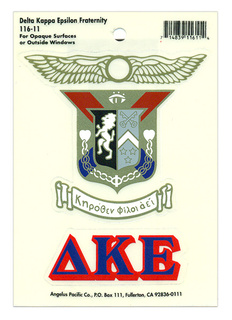 Delta Kappa Epsilon Crest - Shield Decal