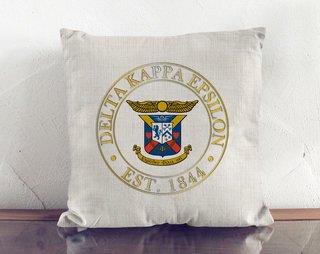 Delta Kappa Epsilon Crest Linen Pillow
