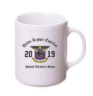 Delta Kappa Epsilon Crest & Year Ceramic Mug