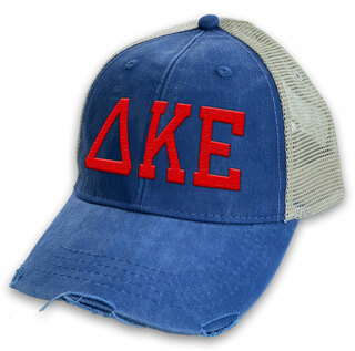 Delta Kappa Epsilon Distressed Trucker Hat
