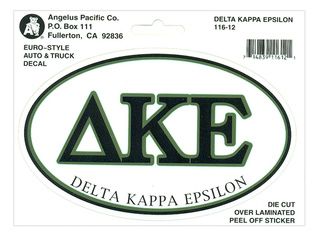 Delta Kappa Epsilon Euro Decal Oval Sticker