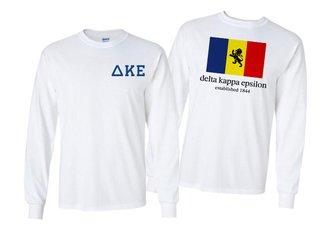 Delta Kappa Epsilon Flag Long Sleeve T-shirt