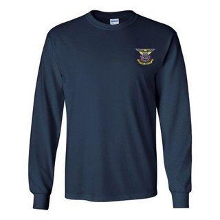 DISCOUNT-Delta Kappa Epsilon Fraternity Crest - Shield Longsleeve Tee