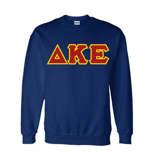 Delta Kappa Epsilon Fraternity Crest - Shield Twill Letter Crewneck Sweatshirt