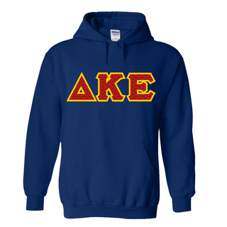 Delta Kappa Epsilon Fraternity Crest - Shield Twill Letter Hooded Sweatshirt