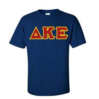 Delta Kappa Epsilon Fraternity Crest - Shield Twill Letter Tee