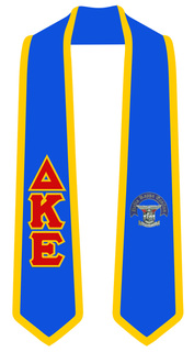 Delta Kappa Epsilon Greek 2 Tone Lettered Graduation Sash Stole