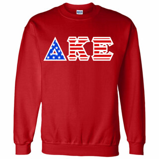 Delta Kappa Epsilon Greek Letter American Flag Crewneck