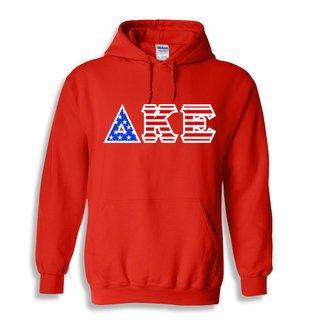 Delta Kappa Epsilon Greek Letter American Flag Hoodie