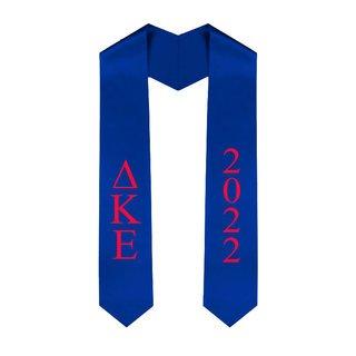 Delta Kappa Epsilon Greek Lettered Graduation Sash Stole With Year - Best Value