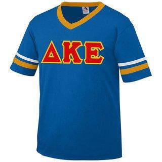 DISCOUNT-Delta Kappa Epsilon Jersey With Greek Applique Letters