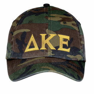 Delta Kappa Epsilon Lettered Camouflage Hat