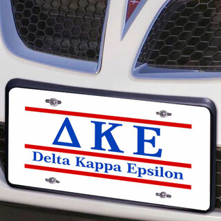 Delta Kappa Epsilon Lettered Lines License Cover