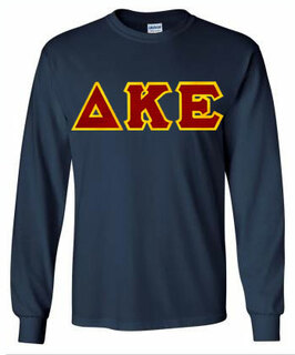 Delta Kappa Epsilon Lettered Long Sleeve Tee- MADE FAST!