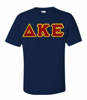 Delta Kappa Epsilon Lettered T-shirt - MADE FAST!