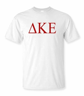 Delta Kappa Epsilon Lettered Tee - $9.95! - MADE FAST!