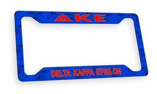Delta Kappa Epsilon Custom License Plate Frame