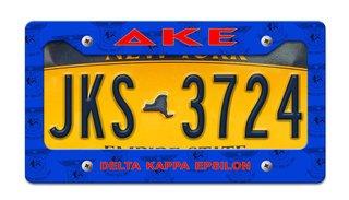 Delta Kappa Epsilon License Plate Frame