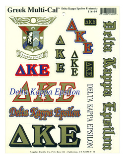 Delta Kappa Epsilon Multi Greek Decal Sticker Sheet