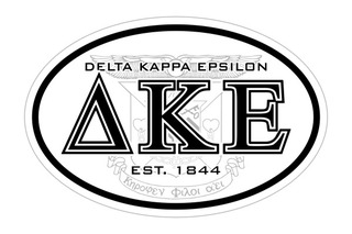 Delta Kappa Epsilon Oval Crest - Shield Bumper Sticker - CLOSEOUT