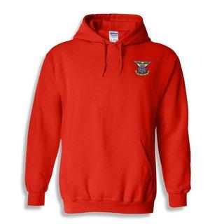 DISCOUNT-Delta Kappa Epsilon Crest - Shield Emblem Hooded Sweatshirt