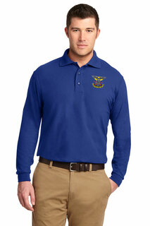 DISCOUNT-Delta Kappa Epsilon Emblem Long Sleeve Polo