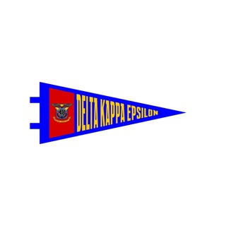 "Delta Kappa Epsilon Pennant Decal 4"" Wide"