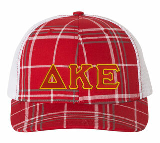 Delta Kappa Epsilon Plaid Snapback Trucker Hat