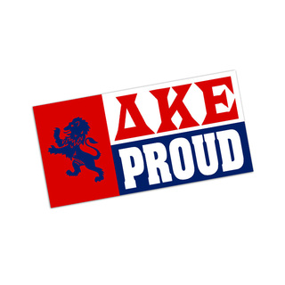 Delta Kappa Epsilon Proud Bumper Sticker - CLOSEOUT