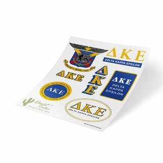 Delta Kappa Epsilon Traditional Sticker Sheet