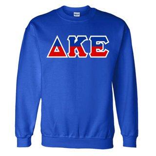 Delta Kappa Epsilon Two Tone Greek Lettered Crewneck Sweatshirt