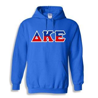 Delta Kappa Epsilon Two Tone Greek Lettered Hooded Sweatshirt