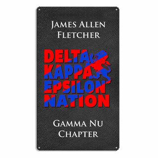 Delta Kappa Epsilon Vintage Metal Wall Sign